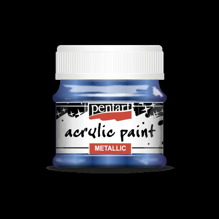 Vopsea acrilica metalizata 50 ml - Albastru cobalt 1