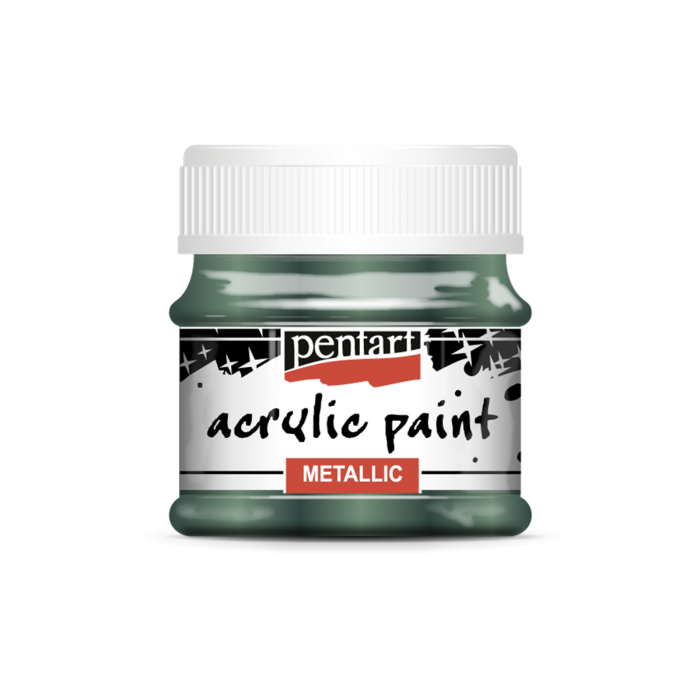 Vopsea acrilica metalizata 50 ml - Verde iedera 1