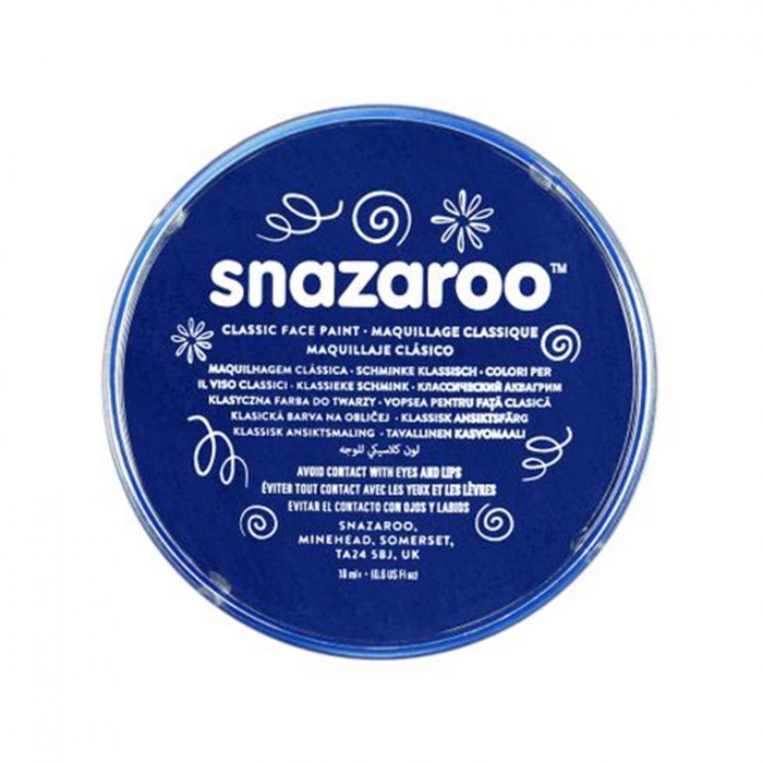 Vopsea pentru fata si corp Snazaroo Classic - Albastru Inchis (Dark Blue) 0