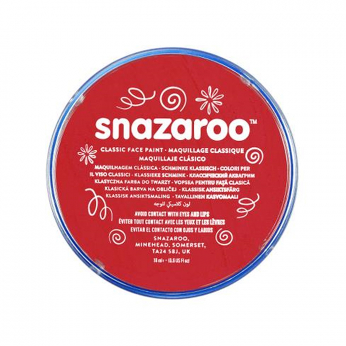 Vopsea pentru fata si corp Snazaroo Classic - Rosu (Bright Red) 0