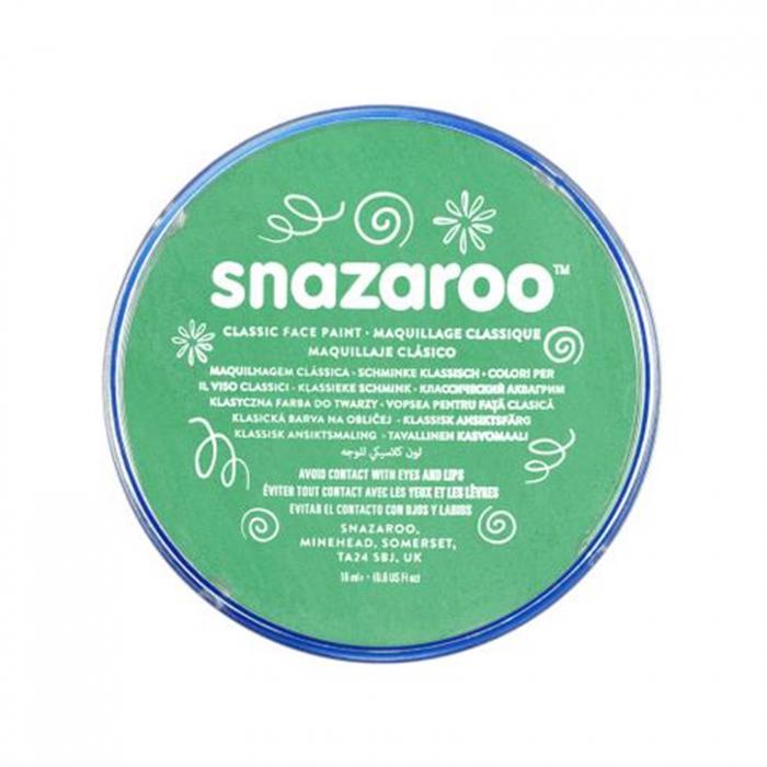 Vopsea pentru fata si corp Snazaroo Classic - Verde (Bright Green) 0