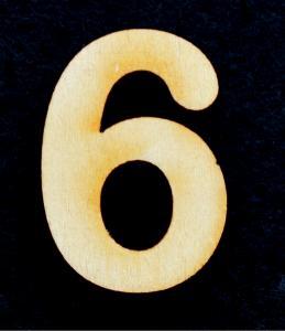 "Cifra din lemn ""6"" sau ""9"" - 3.2 x 2.2 x 0.2 cm0"
