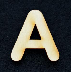 "Litera din lemn ""A"" - 3.2 x 2.8 x 0.2 cm0"