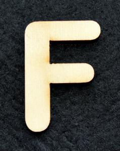"""Litera din lemn """"F"""" - 3.2 x 2.2 x 0.2 cm"""