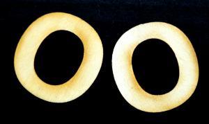 "Litera din lemn ""O"" - 3.2 x 3.1 x 0.2 cm"