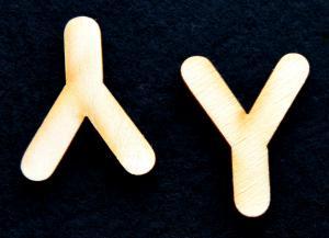 "Litera din lemn ""Y"" - 3.2 x 2.6 x 0.2 cm1"
