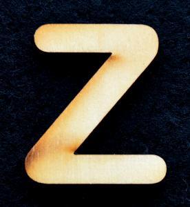 "Litera din lemn ""Z"" - 3.2 x 2.8 x 0.2 cm0"
