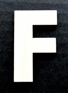 """Litera din lemn """"F"""" - 4.5 x 2.7 x 0.4 cm0"""