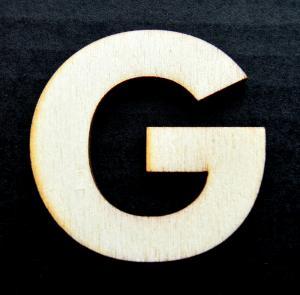 "Litera din lemn ""G"" - 4.5 x 4.7 x 0.4 cm0"