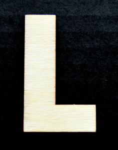 """Litera din lemn """"L"""" - 4.5 x 2.7 x 0.4 cm"""