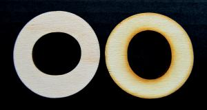 "Litera din lemn ""O"" - 4.5 x 4.7 x 0.4 cm"