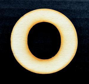 "Litera din lemn ""O"" - 4.5 x 4.7 x 0.4 cm0"