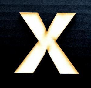 "Litera din lemn ""X"" - 4.5 x 4.5 x 0.4 cm0"