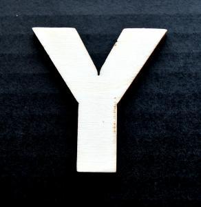 "Litera din lemn ""Y"" - 4.5 x 4.2 x 0.4 cm"