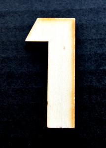 "Cifra din lemn ""1"" - 4.5 x 2 x 0.4 cm0"