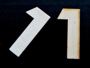 "Cifra din lemn ""1"" - 4.5 x 2 x 0.4 cm1"