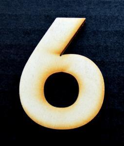 "Cifra din lemn ""6"" sau ""9"" - 4.5 x 3.1 x 0.4 cm0"