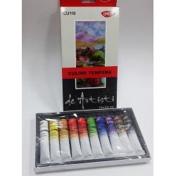 Set 10 culori tempera pentru artisti Daco1