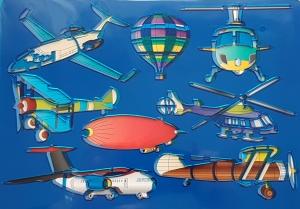 Sablon plastic pentru desen - mijloace de transport aeriene0