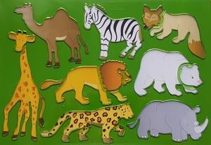 Sablon plastic pentru desen - Animale0