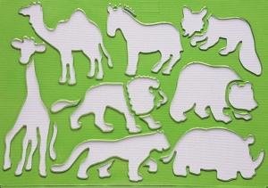 Sablon plastic pentru desen - Animale1