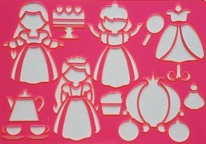 Sablon plastic pentru desen- Printese1