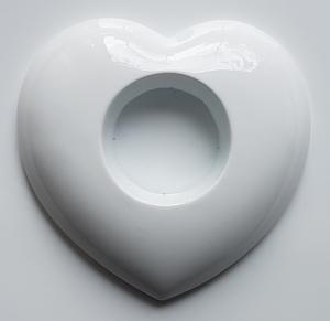 Matrita pentru turnat ipsos - Suport lumanare- Inima