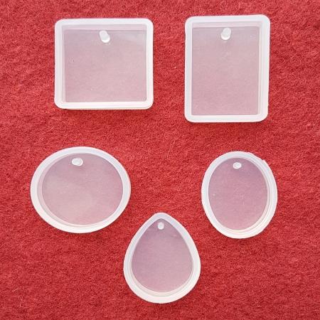 Matriță silicon pentru rășină - Baze bijuterii0
