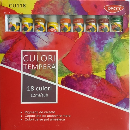 Set 18 culori tempera Daco1