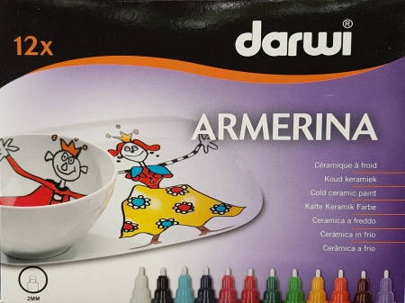 Marker pentru portelan Armerina - 12 culori0