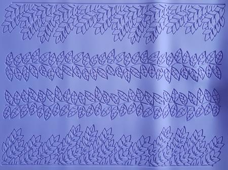 Covoras din silicon - Bordura  frunze1