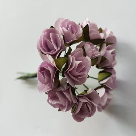 Set flori din hartie 12bc/1.5 cm - Lila