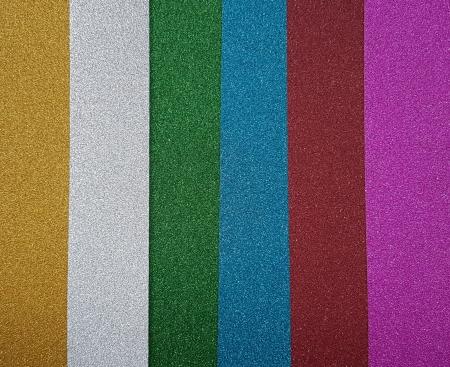 Hartie cu glitter super fina A4 - set 6 culori0