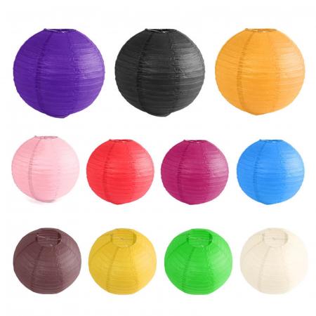 Abajur din hârtie de orez 30 cm - Diverse culori0