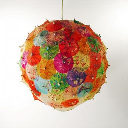 Abajur din hârtie de orez 35 cm - Diverse culori4