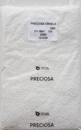 Margele nisip Preciosa Ornela 10/0 - Alb 03050