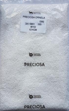 Margele nisip Preciosa Ornela 10/0 - Alb sidefat 461021