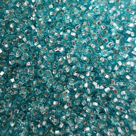 Margele nisip Preciosa Ornela 10/0 - 40 g - Albastru ciel miez argintiu 670000