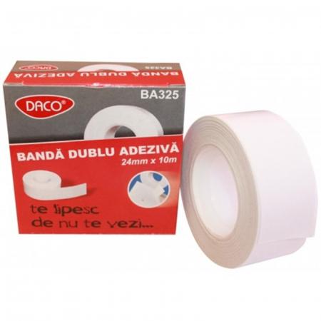 Bandă adezivă dublă Daco - 24 mm x 10 m0