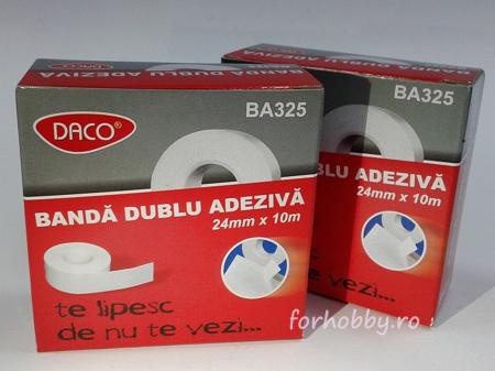 Bandă adezivă dublă Daco - 24 mm x 10 m2