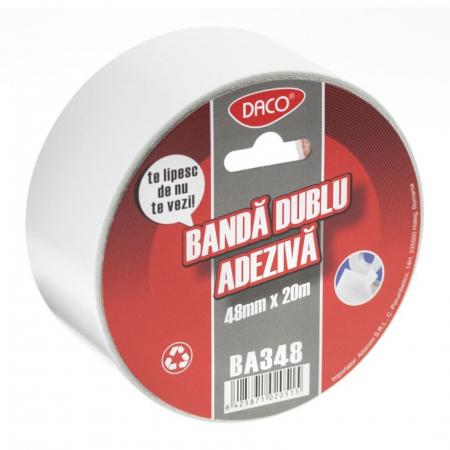Bandă adezivă dublă Daco - 48 mm x 20 m0