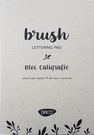 Bloc caligrafie  - Coli alb - natur - marmorat1