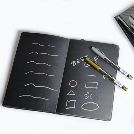 Bloc desen cu hârtie neagră 128g/m2 D41