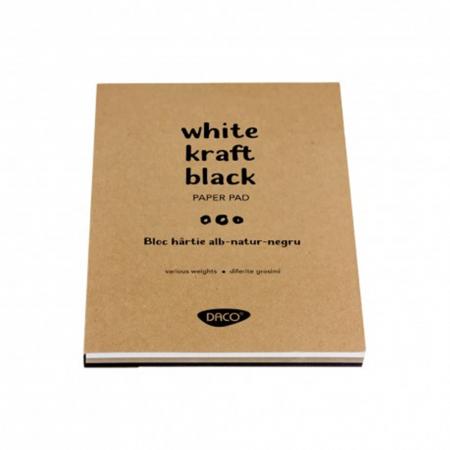 Bloc hârtie - Coli alb - natur - negru1
