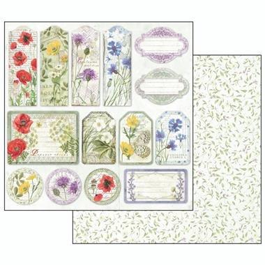 Bloc hârtie scrapbooking 10 coli - Herbarium7
