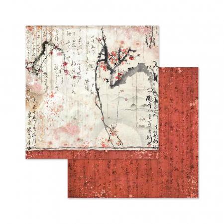 Bloc hârtie scrapbooking 10 coli - Oriental Garden5