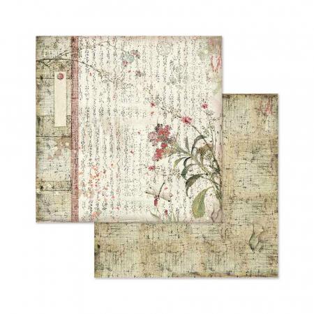 Bloc hârtie scrapbooking 10 coli - Oriental Garden2