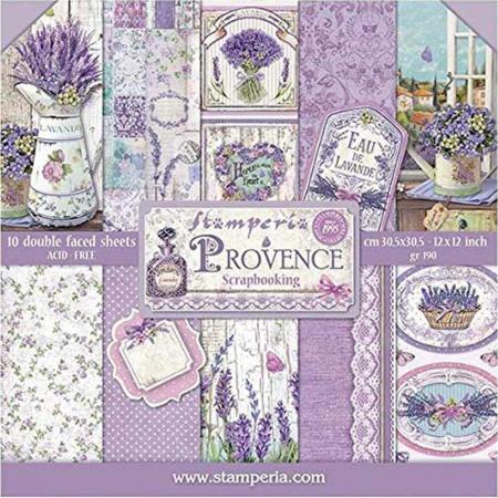 Bloc hârtie scrapbooking 10 coli - Provence0