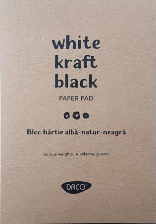 Bloc hârtie - Coli alb - natur - negru0