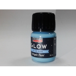 Vopsea acrilica glow in the dark albastru 30 ml0